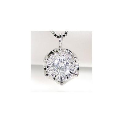 pt900 プラチナ ダイヤモンド ダイヤ ネックレス ペンダント 可愛い おしゃれ 人気 0.25ct CSN00111