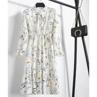 ロングワンピース ロング丈 マキシ丈 花柄 ゆったり 大人可愛い 春夏 トレンド カジュアル ロングドレス