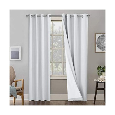 MAEVIS Thermal Insulated Blackout Curtains for Bedroom/Living Room ,Privacy Protection & Noise Reducing Window Curtain ,White Full Shade C