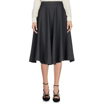 ブライアン デールズ BRIAN DALES 7分丈スカート 鉛色 40 ポリエステル 52% / ウール 43% / ポリウレタン 5% 7分丈ス
