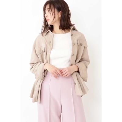【ジルスチュアート/JILLSTUART】 ◆モリースエードシャツジャケット