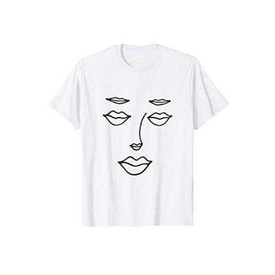 唇の執着-唇の目、唇の鼻、唇の眉毛 Tシャツ