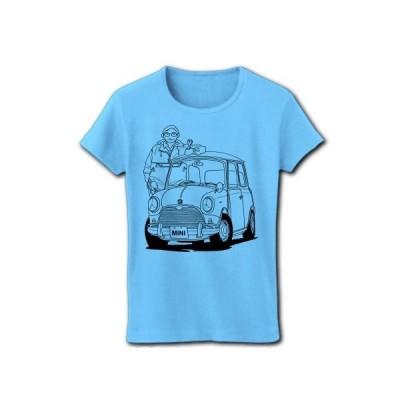 僕とMINI リブクルーネックTシャツ(ライトブルー)