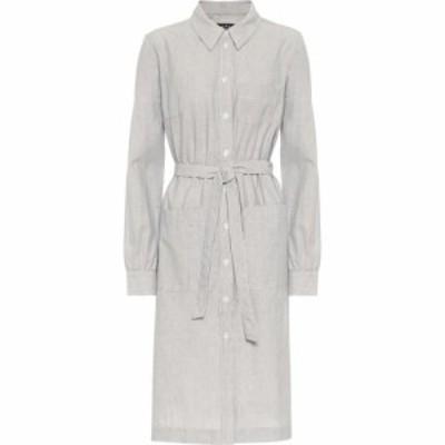 アーペーセー A.P.C. レディース ワンピース シャツワンピース ワンピース・ドレス Emmanuelle cotton shirt dress Bleu Fonce
