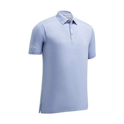 Callaway Men's Standard Micro Hex Solid Short Sleeve Golf Polo Shirt, Brunnera Blue, XXX Large【並行輸入品】
