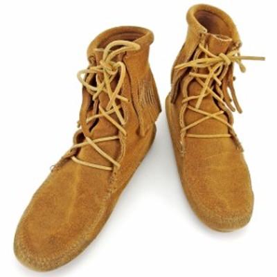 ミネトンカ ブーツ #7 ライトブラウン MINNETONKA 中古 T765