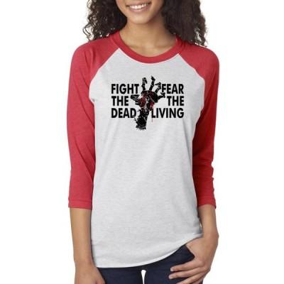 レディース 衣類 トップス Walking Dead Fight The Dead Womens 3/4 Raglan Sleeve Tシャツ