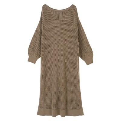 スリット入りメッシュニットワンピース ティティベイト titivate (ワンピース)Dress
