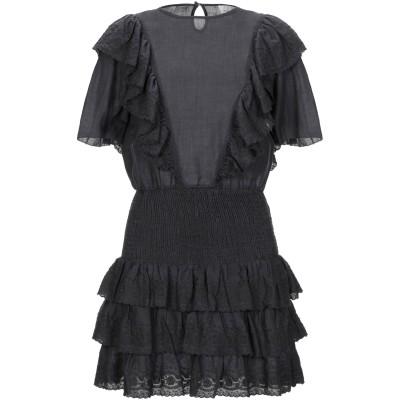 LES COYOTES DE PARIS ミニワンピース&ドレス スチールグレー 38 ラミー 100% ミニワンピース&ドレス
