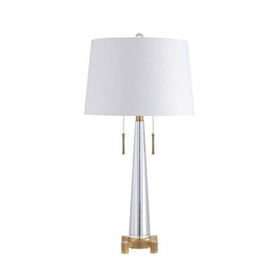[新品]Jonathan Y JYL2018A テーブルランプ 15インチ x 29.5インチ x 15インチ クリア/真鍮ゴールド ホワイトシ