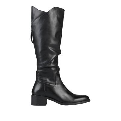 カフェノワール CAFèNOIR ブーツ ブラック 36 革 ブーツ
