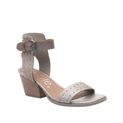 ニコル サンダル シューズ レディース Amabel Double Strap Low-Heeled Sandal Heather Gr