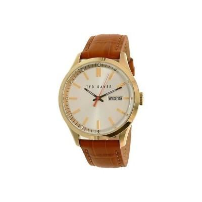 腕時計 テッドベイカー  Ted Baker Men's 10023464 Brown Leather Quartz Dress Watch