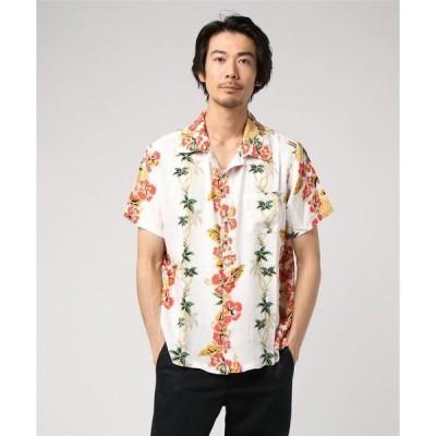 シャツ ブラウス 【Kahiko】ハイビスカス&パイナップルMEN'Sアロハシャツ