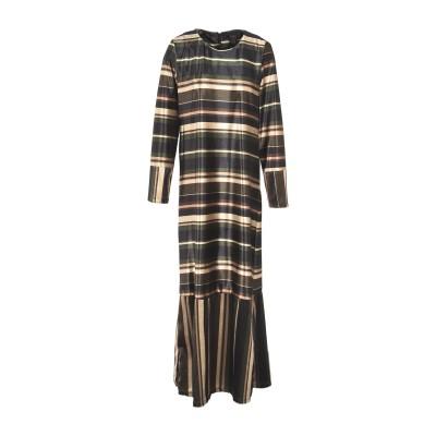 GUTTHA ロングワンピース&ドレス ミリタリーグリーン M ポリエステル 100% ロングワンピース&ドレス