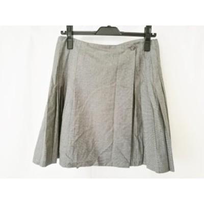 アニエスベー agnes b スカート サイズ40 M レディース 黒×白 プリーツ【還元祭対象】【中古】