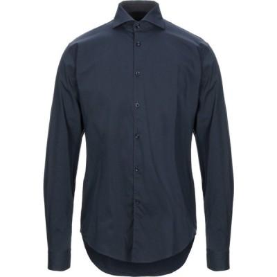 バルバッティ BARBATI メンズ シャツ トップス solid color shirt Dark blue