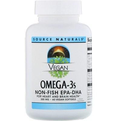 ヴィーガン・オメガ-3S、EPA-DHA、300 mg、ヴィーガンソフトジェル60個