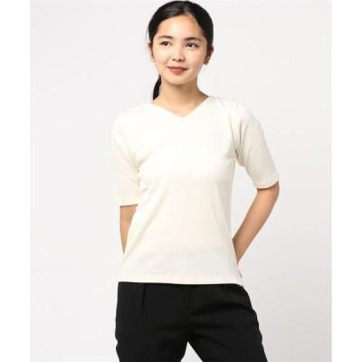 tシャツ Tシャツ コットンリブ・シンプルTシャツ