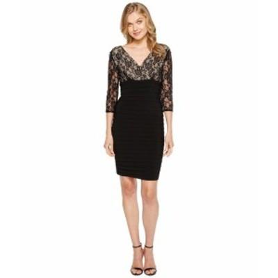 アドリアナパペル レディース ドレス L/S Lace Band Dress