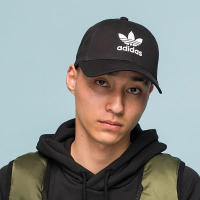 アディダス オリジナルス adidas originals キャップ 帽子 トレフォイル クラシック ベースボール メンズ レディース 黒 TREFOIL CLASSIC BASEBALL CAP EC3603( ×ネイビー-ホワイト)