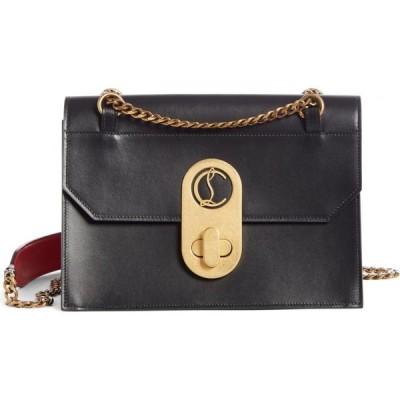 クリスチャン ルブタン CHRISTIAN LOUBOUTIN レディース ショルダーバッグ バッグ Large Elisa Calfskin Leather Shoulder Bag Black