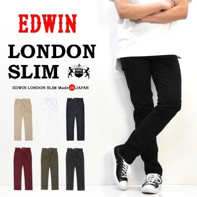 EDWIN エドウイン  ロンドンスリム 日本製 ストレッチ スリムテーパード カラーパンツ スキニー スリム 送料無料 EXL32