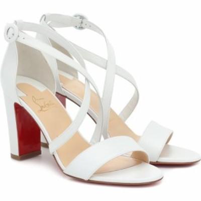 クリスチャン ルブタン Christian Louboutin レディース サンダル・ミュール シューズ・靴 Loubi Bee 85 leather sandals Bianco