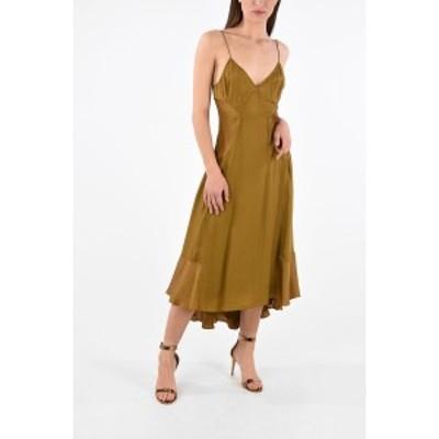 PROENZA SCHOULER/プロエンザ スクーラー Brown レディース WHITE LABEL Sleeveless Asymmetrical GEORGETTE Dress dk