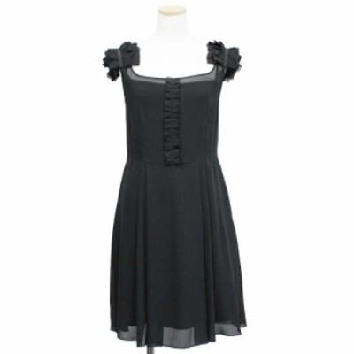 (中古)フォクシーニューヨーク エアリーシフォン ドレス ブラック 40