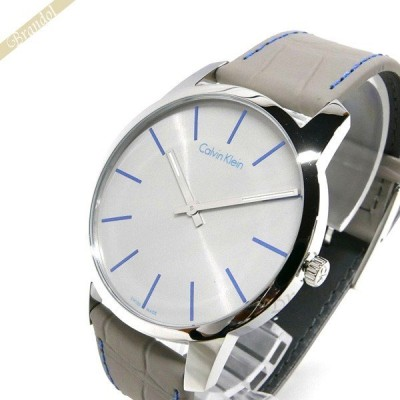 カルバンクライン Calvin Klein メンズ 腕時計 シティ 43mm グレー K2G211.Q4 [取寄品]