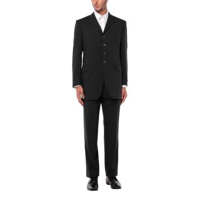 1911 LUBIAM CERIMONIA スーツ ブラック 52 バージンウール 100% スーツ