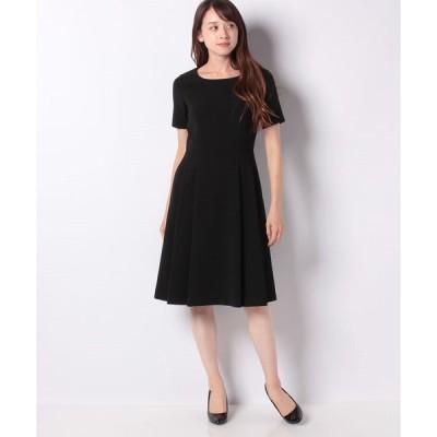 【ミス ジェイ】【洗える】シルキーストレッチ ドレス