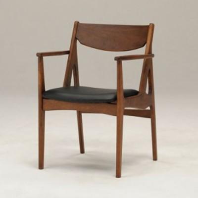 チェア 椅子 木製 天然木 デザイン スマート シャープ おしゃれ シック かわいい ヴィンテージ風(代引不可)【送料無料】