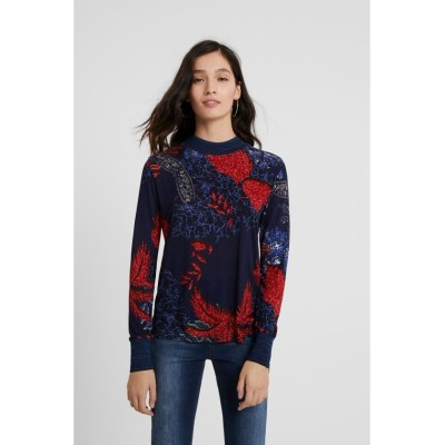 【デシグアル】 Tシャツ長袖 MARYLAND レディース ブルー系 L Desigual