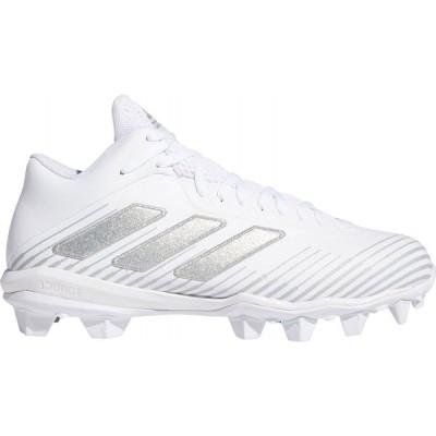 アディダス adidas メンズ アメリカンフットボール スパイク シューズ・靴 Freak MD Football Cleats White/Silver