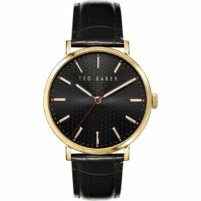 テッドベーカー TED BAKER LONDON メンズ 腕時計 Phylipa Leather Strap Watch. 41mm Black