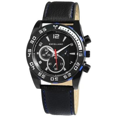 ジュエリー 腕時計 エクセランク Excellanc メンズ 腕時計 クロノグラフ Look Faux レザー 腕時計 - 2950-149