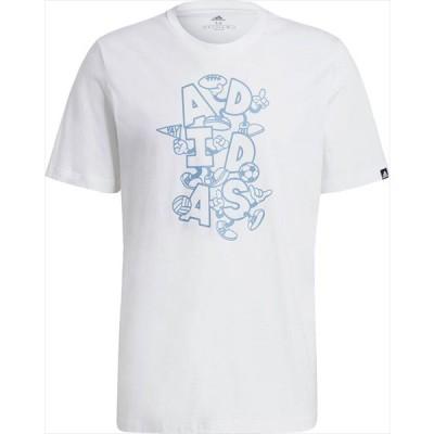 [adidas]アディダス メンズ M DOODLE グラフィックTシャツ (28955)(GL3258) ホワイト[取寄商品]