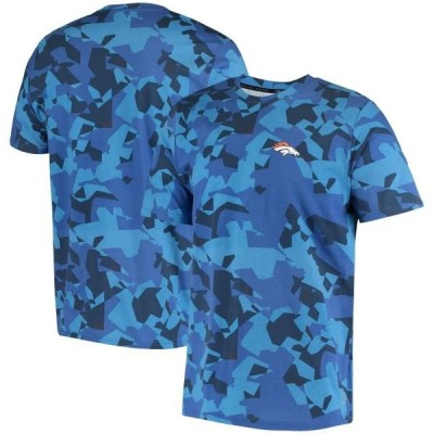 ユニセックス スポーツリーグ フットボール Denver Broncos MSX by Michael Strahan Camo Printed T-Shirt - Royal Tシャツ