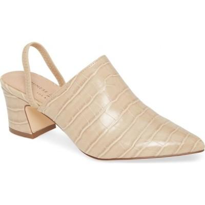 チャイニーズランドリー CHINESE LAUNDRY レディース パンプス シューズ・靴 Paulo Croc Embossed Slingback Pump Khaki Faux Leather