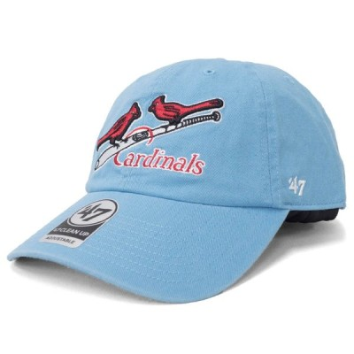 MLB セントルイス・カージナルス キャップ/帽子 Cooperstown Clean Up Adjustable Cap 47 Brand ブルー