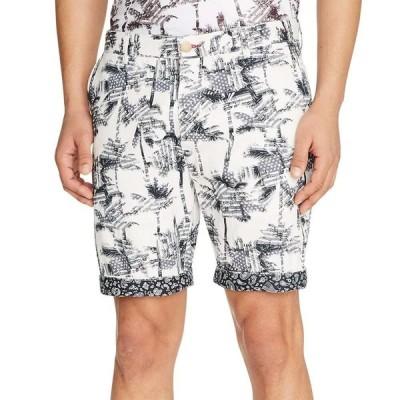 テーラー Tallia メンズ ショートパンツ ボトムス・パンツ Slim-Fit Palm Tree Shorts White/black