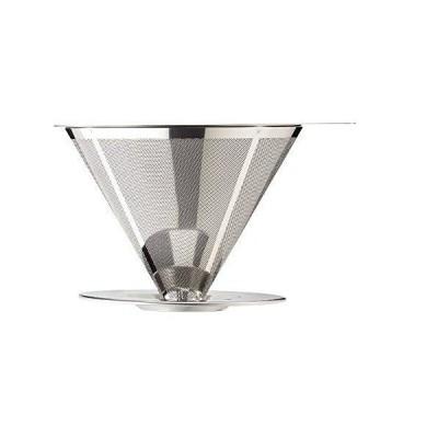 ペーパーレス コーヒードリッパー コーヒー ドリッパー ステンレス ブレイクタイム 1?4杯 2層ウルトラメッシュ加工で ペーパーフィルター