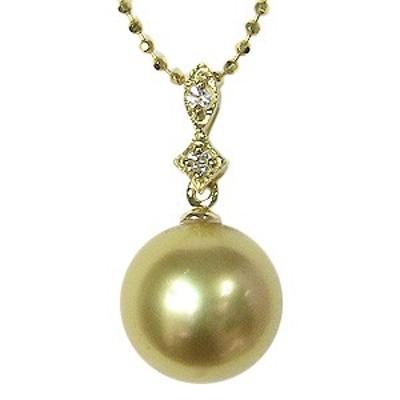 真珠 パール ペンダント ペンダントトップ 南洋白蝶真珠 ゴールデンパール ゴールドパール K18 18金 ゴールド