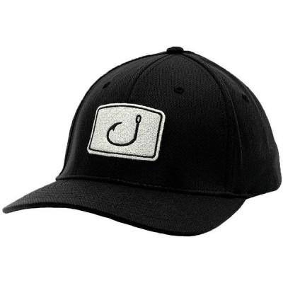 アビッド 帽子 アクセサリー メンズ AVID Men's Iconic Fitted Hat Black/Charcoal