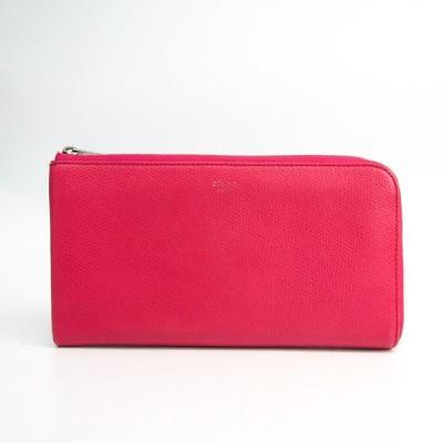 セリーヌ ラージハーフジップマルチファンクション 103043 レディース  カーフスキン 長財布(二つ折り) ピンク