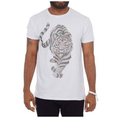 ヘッズオアテイルズ Heads Or Tails メンズ Tシャツ トップス 3D Graphic Red Eyed Tiger T-Shirt White
