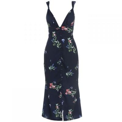 キープセイク Keepsake レディース ワンピース ミドル丈 ワンピース・ドレス Glory Midi Dress Navy floral