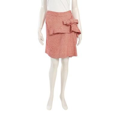 【中古】マルニ MARNI スカート 赤 ベージュ 38 ボトムス ミニ丈 刺繍 ウール リボン レディース 【ベクトル 古着】